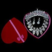 Charming Alloy with Rhinestone Wedding Jewelr... – USD $ 69.99