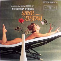 The Cesana Strings - Sheer Ecstasy (Warner Brothers; 1960) Surprisingly risque cover for a major label release, particularly given the era.  That cover would likely raise eyebrows even today. #albums #vinyl #records