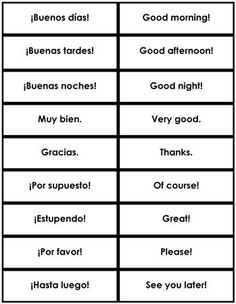Spanish Phrases & Sentences from Montessori for Everyone