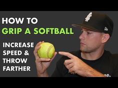 The grip will make a huge impact on a softball player's throws. In this article you'll learn how to grip a softball for maximum velocity, distanced and accuracy. Softball Crafts, Softball Bows, Softball Coach, Softball Shirts, Softball Players, Fastpitch Softball, Softball Stuff, Softball Gear, Softball Pitching Drills