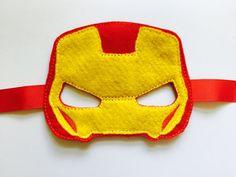 Iron Man Felt Pretend Play Super Hero Mask by LitoDesigns on Etsy