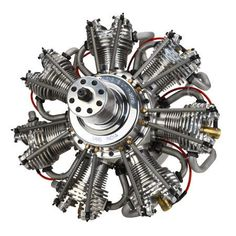 7 Cyl 260cc 4 Stroke Gas Radial Engine for RC Planes.  Zooom...