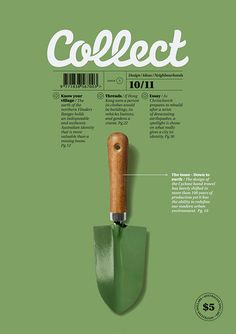 "Ties in to our ""Because of the Harvest"" theme – a spade could be on our cover. and seed that grows throughout the magazine into a tree."