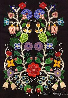 "Jessica Show Pony Gokey (Ojibwe): Celebration of Spring"", Beautiful. Indian Beadwork, Native Beadwork, Native American Beadwork, Native American Art, Beaded Embroidery, Embroidery Designs, Beadwork Designs, Native Design, Nativity Crafts"