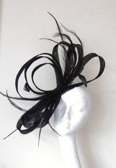 Black Kentucky Derby  Fascinator Hat; because I have to be able to see in order to walk in the shoes...