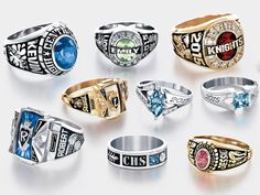 High School Rings For Girls - Bing Images Class Rings For Girls, Senior Rings, College Rings, Graduation Rings College, Graduation Ideas, Graduation Gifts, High School Rings, Gold Chains For Men, Ways To Save