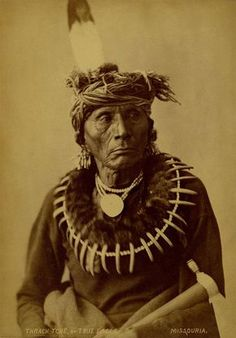 True Eagle - Thrach-tche, nephew of Ah-ho-che-ka-thocka (Quapaw Indian Striker) - Missouria 1874.