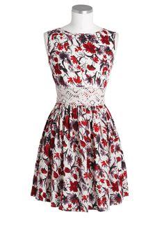 dELiAs > Crochet Waist Floral Dress > dresses > view all dresses