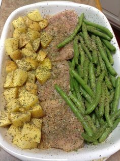 Chicken potatoes and green beans -better version! without italian dressing packet