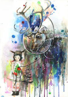 Little Orphan and Space Reindeer by lora-zombie.deviantart.com on @deviantART