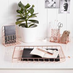 BuyJohn Lewis Rose Gold Desk Tidy Online at johnlewis.com