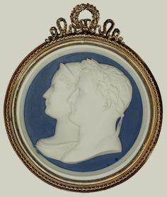Jasperware medallion with busts all'antica of Napoleon and Marie Louise by Jean-Bertrand Andrieu, ca. 1810, Zamek Królewski na Wawelu