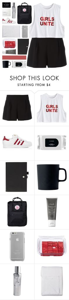 """you wake up, flawless"" by www-purrtydino-org ❤ liked on Polyvore featuring Boutique Moschino, adidas, MAC Cosmetics, Reiss, Royal Doulton, Fjällräven, Case-Mate, Lindt, Paul's Boutique and Lene Bjerre"