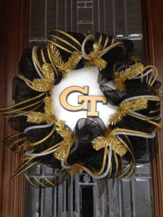 Georgia Tech Wreath by Wreathmarket on Etsy, $85.00