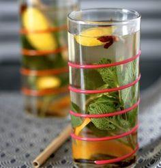 Fraicheur de thé aux épices et herbes / Spicy iced tea