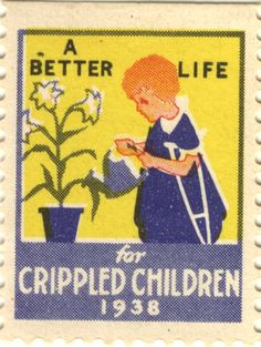 """Easter Seal from 1938 """"A Better Life for Crippled Children"""" #EasterSealsFL"""
