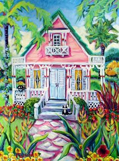 Patricia Ezzell / Studio Gallery - Key West Cottage