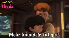 """Heidi und Peter umarmen sich so gerne, denn """"Mehr knuddeln tut gut!"""" Umarmt Euch öfter mal gegenseitig! :) #Heidi #Peter #Umarmung #Freunde #Kinderserien"""