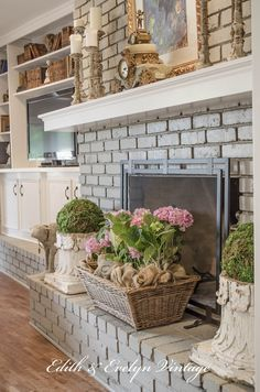Fireplace color sherwin williams Pale  Fireplace in living room - pavestone