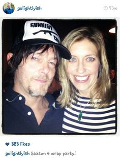 Norman Reedus and Denise Huth from @golightlyish on instagram.