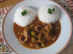 HOVĚZÍ MASO - AZU PO TATARSKU No Salt Recipes, Cooking Recipes, Grains, Pork, Beef, Breakfast, Kebabs, Kale Stir Fry, Meat
