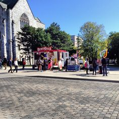 Serving up sweets to the students at Queen's U! Instagram photo by @stephkklam (Stephanie Lam)