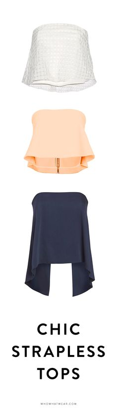 Shop chic strapless tops