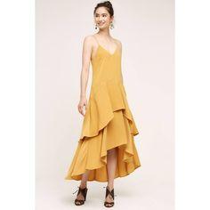 Sunglow Mehrlagiges Kleid, gelb