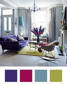 Decorating Ideas: 6 Colors to Pair With Purple at Home   Apartment Therapy