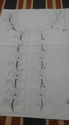 رشمات الطرز للقفطان والقندورة أجمل الموديلات الجديدة . للإستفادة Hand Embroidery Design Patterns, Cutwork Embroidery, Embroidery Fashion, Embroidery Kits, Machine Embroidery Designs, Fabric Painting, Sewing Crafts, Drawing, Canvas