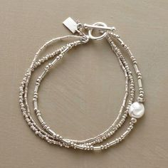 PEARLS IN THE STREAM BRACELET - Have and wear this with the Moonlight Sonata bracelet - LOVE them together!