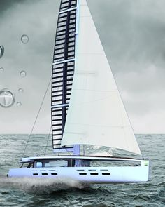 kira2  Solar Fun In A Sail If I have to sum up the innovative quotient in the Kira Yacht, then it has to be the lead in the keel of the boat, which is designed to become a giant battery charger thanks to the solar cells in the sail. 40-meter Sail Yacht allows the owner to live in complete comfort and with zero carbon footprint.