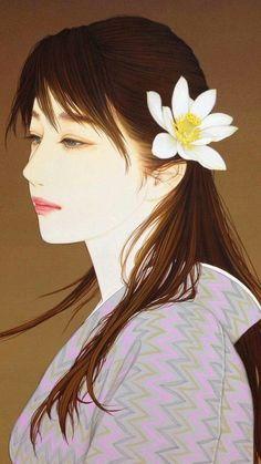 板根輝美 Japanese Art Prints, Japanese Art Modern, Japanese Drawings, Japanese Artwork, Japanese Artists, Illustrations, Illustration Art, Japan Painting, Great Paintings