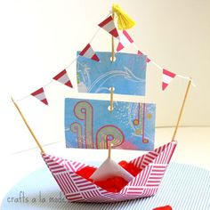 How to Make a Paper Boat Bowl | Crafts a la mode