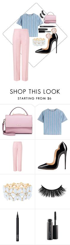 """Untitled #21"" by sandrabcmoonen ❤ liked on Polyvore featuring WithChic, T By Alexander Wang, ESCADA, Charlotte Russe, NARS Cosmetics, MAC Cosmetics and Monica Vinader"