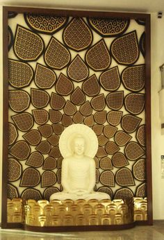Buddha Jaali Mural - JNB, Ministry of External Affairs, Delhi by Deepti Jain at Coroflot.com