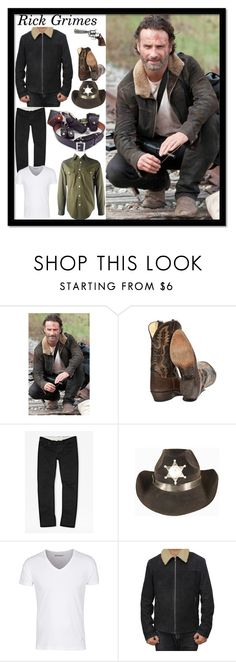 """Rick Grimes Costume"" by fjackets ❤ liked on Polyvore featuring French Connection, Inox, women's clothing, women's fashion, women, female, woman, misses and juniors"
