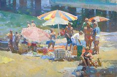 "Catalina Playground by Kevin Macpherson Oil ~ 24"" x 36"""