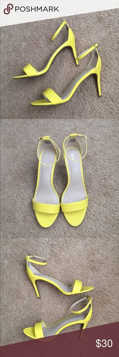 """Yellow Heels Light and comfortable on the foot. Never been worn but missing the tag and the original box. The heel is a little over 3.5"""" tall. Apt. 9 Shoes Heels"""