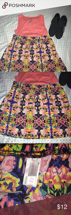 Floral/Tribal Print Skirt size XXL Floral/Tribal Print Skirt size XXL by Xhilaration. Super cute and perfect with a jean jacket or a black and white striped blazer. Add tights and wedges for fall! Xhilaration Skirts Circle & Skater