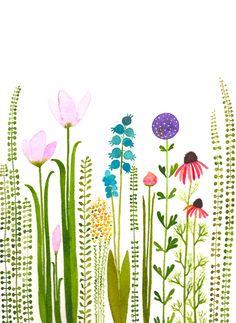 VENDITA-colorato giardino originali acquerello-vendita