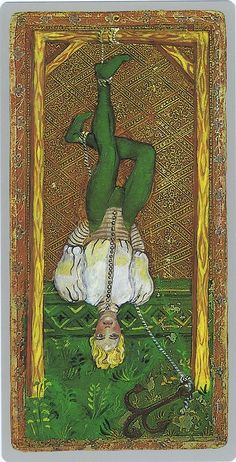 The Hanged Man From the Cary-Yale Visconti Tarocchi deck 15th Century Milan