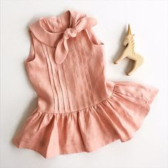 Eleanor in Blush Pink Linen by littlegoodall on Etsy