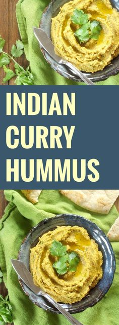 This spicy Indian curry hummus is made from blended chana masala seasoned chickpeas, with a hint of of tomato, and lots of garlic, cilantro and ginger.