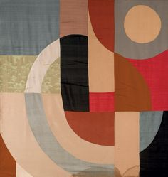 thunderstruck9: Sonia Delaunay (French, 1885-1979), Rideau simultané, conceived in 1956. Sewn fabrics, 199 x 187.7 cm.