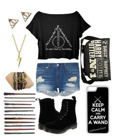 """""""Harry Potter"""" by riley-motes on Polyvore featuring rag & bone, Dr. Martens, Converse, Bling Jewelry and CellPowerCases"""