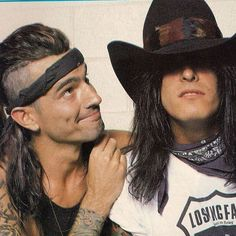 The Terror Twins: Tommy Lee and Nikki Sixx Tommy Lee, Motley Crue Nikki Sixx, Bass, Mick Mars, 80s Hair Bands, Jim Morrison Movie, Vince Neil, Glam Metal, Band Pictures