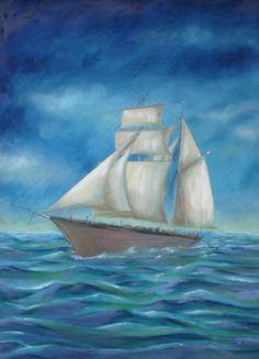 Pintura de Beato Ten Prenafeta  - Antonia- 6-Bergantí Goleta  42X59cm