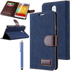 Note 3 Case, Galaxy Note 3 Flip Case - ULAK Galaxy Note 3 Case Luxury Canvas Folio Wallet Case Cover for Samsung Galaxy Note 3 Note iii N9000 (AT&T, T-Mobile, Sprint, Verizon) with Stylus and Clear Screen Protector (Blue) ULAK http://www.amazon.com/dp/B00L9U951K/ref=cm_sw_r_pi_dp_hBGkub0CN5CY3