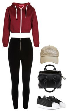"""""""Untitled #464"""" by maritzawaffles on Polyvore featuring adidas, Givenchy, women's clothing, women, female, woman, misses and juniors"""